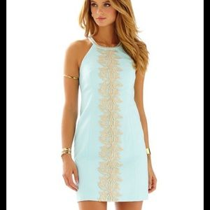 Lilly Pulitzer pearl lace detail shift dress